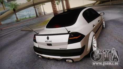 Renault Megan pour GTA San Andreas laissé vue