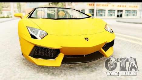 Lamborghini Aventador LP700-4 Roadster v2 für GTA San Andreas Seitenansicht