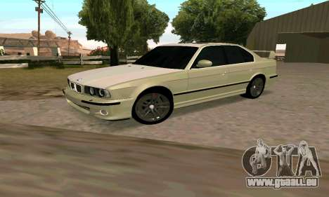 BMW M5 E34 pour GTA San Andreas laissé vue