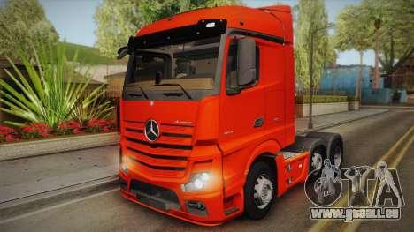 Mercedes-Benz Actros Mp4 6x2 v2.0 Steamspace v2 pour GTA San Andreas