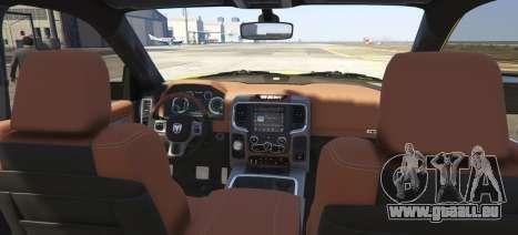 GTA 5 Dodge Ram Limited 2016 arrière vue latérale gauche