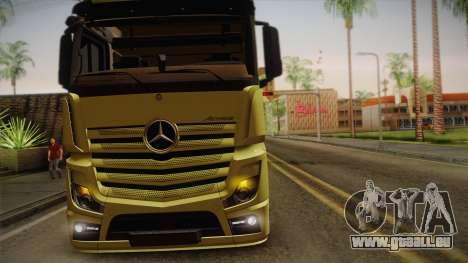 Mercedes-Benz Actros Mp4 v2.0 Tandem Big pour GTA San Andreas vue intérieure