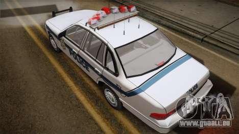 Ford Crown Victoria 1997 El Quebrados Police pour GTA San Andreas sur la vue arrière gauche
