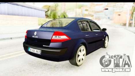 Renault Megane 2 Sedan 2003 v2 für GTA San Andreas zurück linke Ansicht