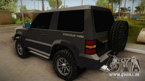 Mitsubishi Pajero 3-Door Off-Road für GTA San Andreas linke Ansicht