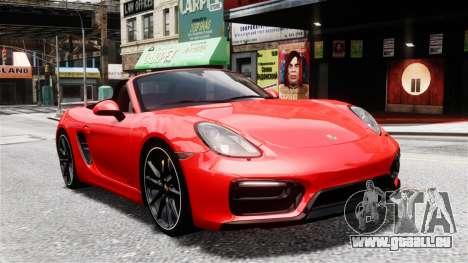 Porsche Boxster GTS 2014 pour GTA 4