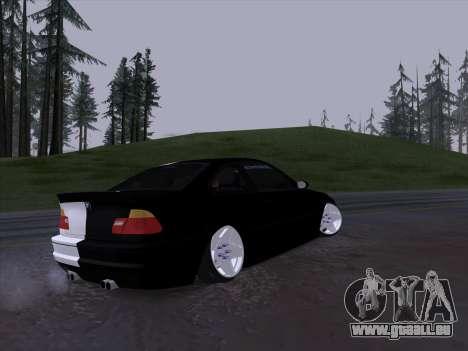 BMW E46 Good and Evil pour GTA San Andreas vue arrière
