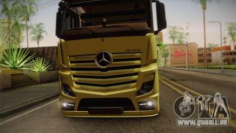 Mercedes-Benz Actros Mp4 v2.0 Tandem Big pour GTA San Andreas vue arrière