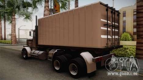 GTA 4 Flatbed pour GTA San Andreas laissé vue