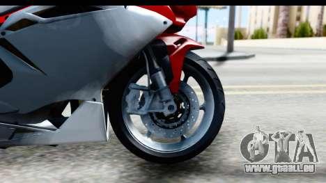 MV Agusta F4 pour GTA San Andreas vue arrière