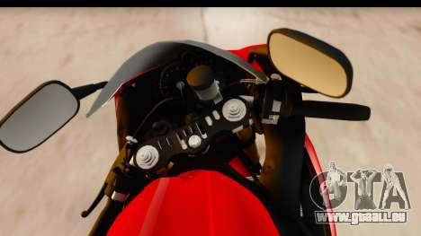 Yamaha R1 2014 pour GTA San Andreas vue arrière