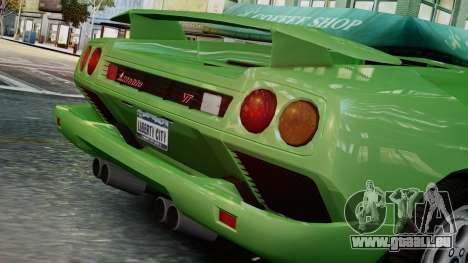 Lamborghini Diablo VT 1990 pour GTA 4 Vue arrière