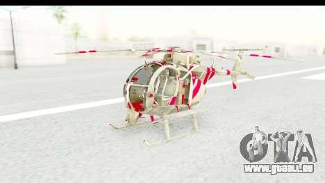Smaga Sparrow Helis Military Version pour GTA San Andreas vue de droite