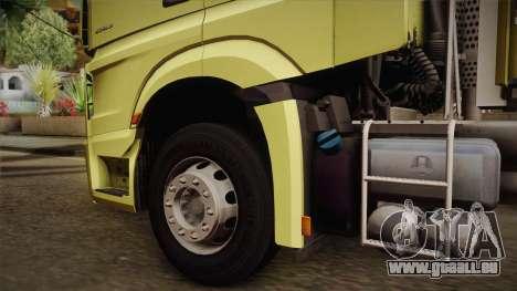 Mercedes-Benz Actros Mp4 v2.0 Tandem Big für GTA San Andreas rechten Ansicht
