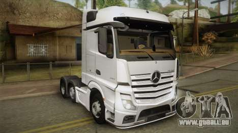Mercedes-Benz Actros Mp4 6x2 v2.0 Bigspace v2 pour GTA San Andreas