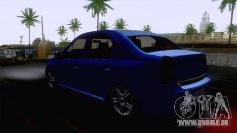 Dacia Logan Cocalar Edition pour GTA San Andreas sur la vue arrière gauche
