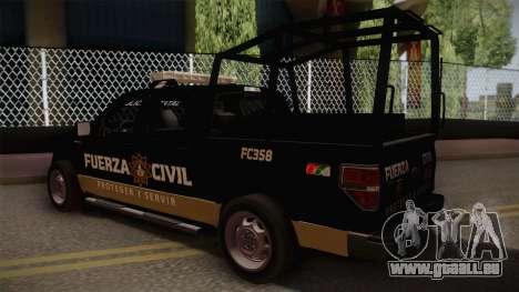Ford F-150 de la Fuerza Civil de Nuevo Leon für GTA San Andreas linke Ansicht