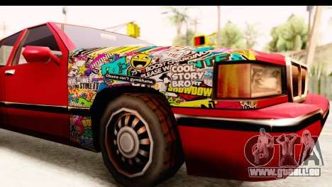 Elegant Sticker Bomb für GTA San Andreas Rückansicht
