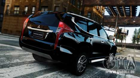 Mitsubishi Montero Sport 2016 für GTA 4 Innenansicht