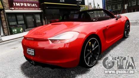 Porsche Boxster GTS 2014 für GTA 4 linke Ansicht