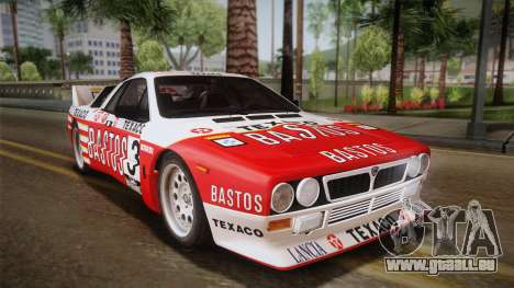 Lancia Rally 037 Stradale (SE037) 1982 IVF Dirt2 für GTA San Andreas linke Ansicht