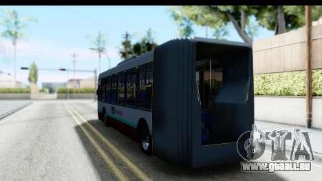 Metrobus de la Ciudad de Mexico pour GTA San Andreas sur la vue arrière gauche