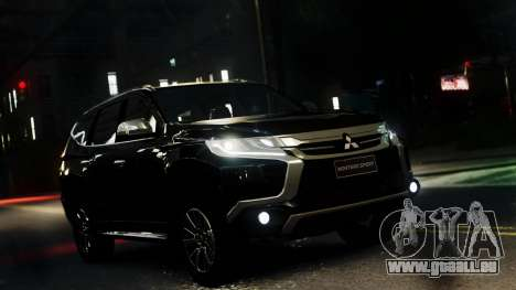 Mitsubishi Montero Sport 2016 pour GTA 4 Vue arrière de la gauche
