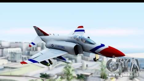 F-4 Phantom II Thunderbirds für GTA San Andreas zurück linke Ansicht