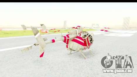 Smaga Sparrow Helis Military Version pour GTA San Andreas laissé vue