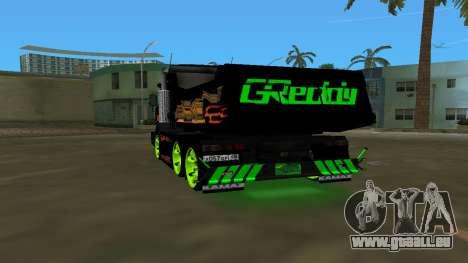 KAMAZ 65115 TUNING pour GTA Vice City sur la vue arrière gauche