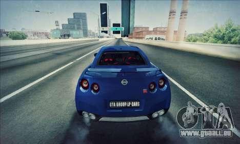 Nissan GT-R R35 Premium pour GTA San Andreas laissé vue