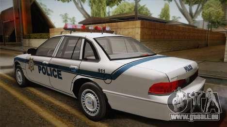 Ford Crown Victoria 1997 El Quebrados Police pour GTA San Andreas laissé vue