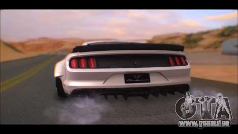 Ford Mustang 2015 Liberty Walk LP Performance pour GTA San Andreas laissé vue