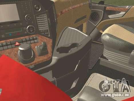 Mercedes-Benz Actros Mp4 4x2 v2.0 Bigspace v2 für GTA San Andreas Innenansicht