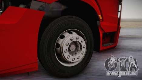 Mercedes-Benz Actros Mp4 6x4 v2.0 Bigspace v2 pour GTA San Andreas vue arrière