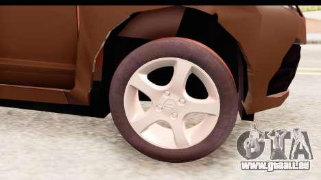 Honda Brio pour GTA San Andreas vue arrière