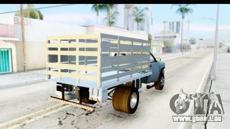 Chevrolet Silverado 2011 pour GTA San Andreas sur la vue arrière gauche