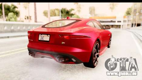 Jaguar F-Type R Coupe 2015 für GTA San Andreas linke Ansicht