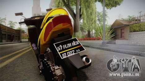 Honda Vario Yellow Shines pour GTA San Andreas sur la vue arrière gauche