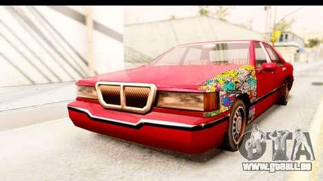Elegant Sticker Bomb pour GTA San Andreas vue de droite