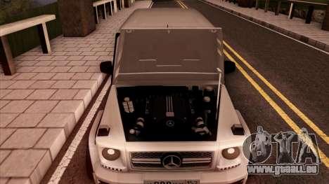 Mercedes-Benz G65 für GTA San Andreas Seitenansicht