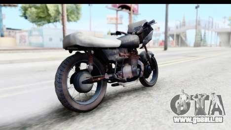 Kawasaki KZ900 1973 Mad Max 2 für GTA San Andreas zurück linke Ansicht