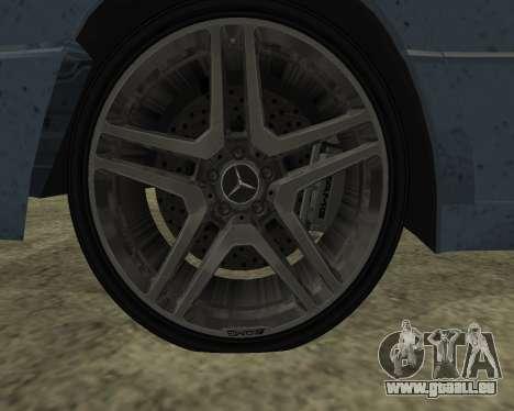 Mersedes-Benz E-500 Armenian für GTA San Andreas zurück linke Ansicht