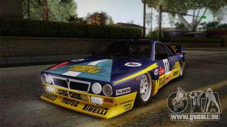 Lancia Rally 037 Stradale (SE037) 1982 IVF Dirt1 pour GTA San Andreas salon