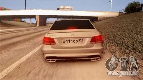 Mercedes-Benz Е63 für GTA San Andreas Seitenansicht