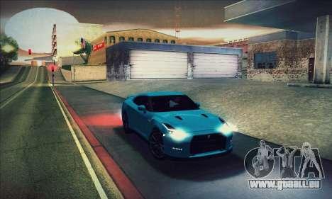 Nissan GT-R R35 Premium pour GTA San Andreas vue de dessous