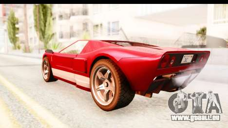 GTA 4 TboGT Bullet pour GTA San Andreas sur la vue arrière gauche