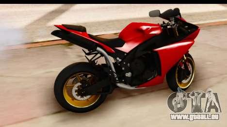 Yamaha R1 2014 pour GTA San Andreas vue de droite