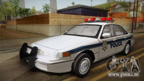Ford Crown Victoria 1997 El Quebrados Police pour GTA San Andreas