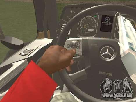 Mercedes-Benz Actros Mp4 6x2 v2.0 Gigaspace für GTA San Andreas Unteransicht
